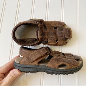 Stride rite boys brown fisherman leather sandals
